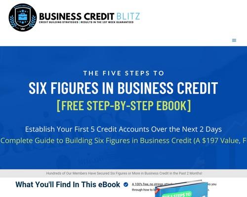 Business Credit Blitz - Six Figure eBook Giveaway