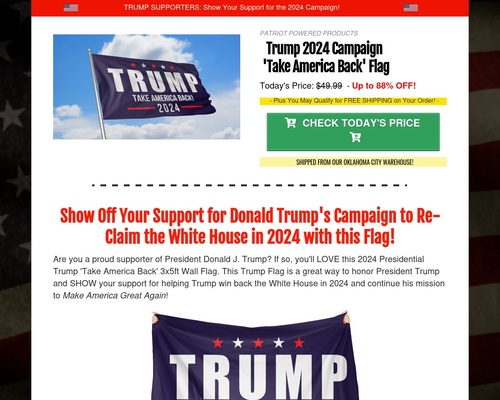 Trump 2024 Campaign Flag - Up to 88% OFF