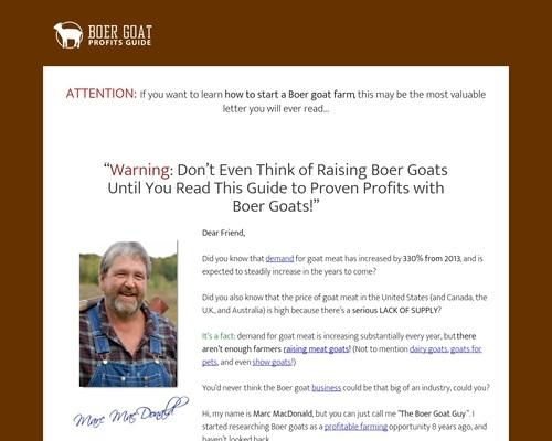 Boer Goat Profits Guide Power Pack