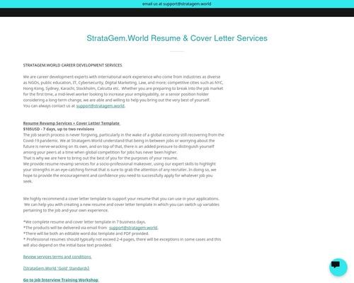 Affiliate Resume | StrataGem NYC LLC