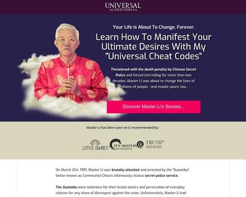 Universal Cheat Codes by Master Li