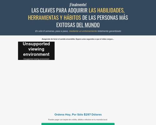 Conquista El Exito | Carta De Ventas En Video De Altas Conversiones